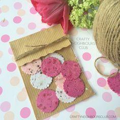Blühendes Konfetti zum Muttertag - Craftyneighboursclub : Tolle Geschenkidee - Seidenpapierkonfetti mit Blumensamen selbermachen