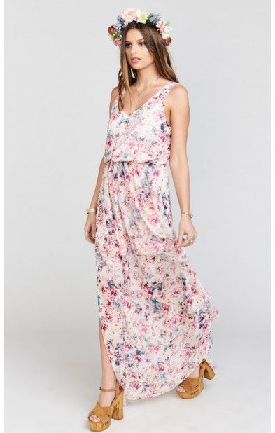 Kendall Maxi Dress ~ Wedding Shoes Floral | Show Me Your MuMu