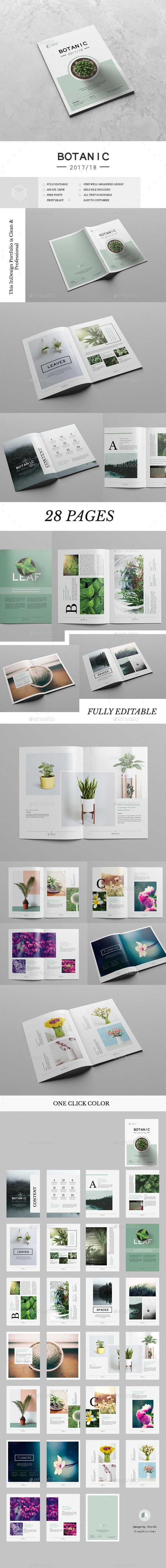 Botanic Portfolio — InDesign INDD #spaces #green • Download ➝ https://graphicriver.net/item/botanic-portfolio/19499273?ref=pxcr