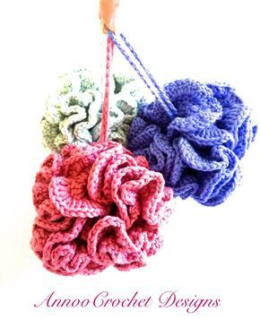Spa Scrubbies Free Crochet Tutorial By AnnooCrochet Designs