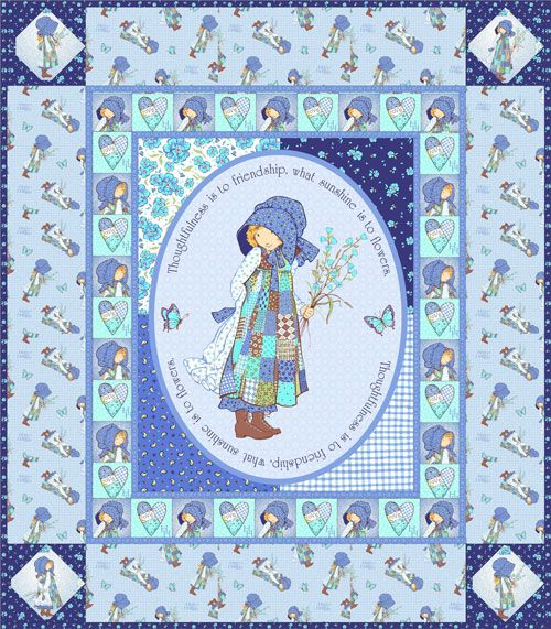 Line Art Quilt Pattern Holly Hickman : Best images about holly hobbie items on pinterest
