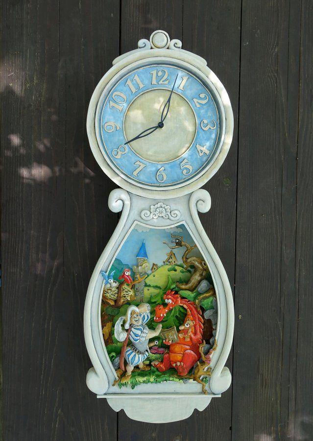 Woodcarving- Pohádkové hodiny od Tomáš Hejhal (Hejkalíci)
