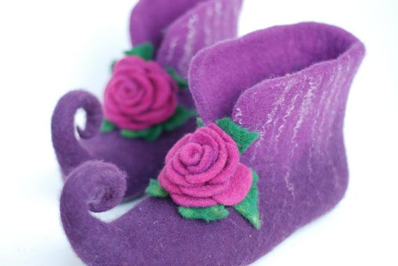 Fairy shoes/ felted home slippers can be made in by zavesfelt