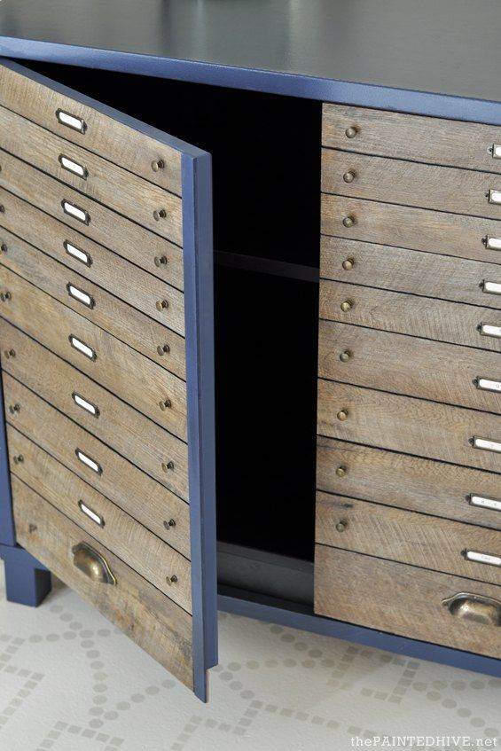The 25 best flat file cabinet ideas on pinterest martha stewart furniture flip easy diy faux flat file no power tools required malvernweather Choice Image
