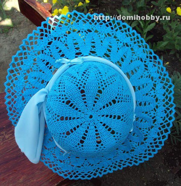 Blue sombrero with diagram