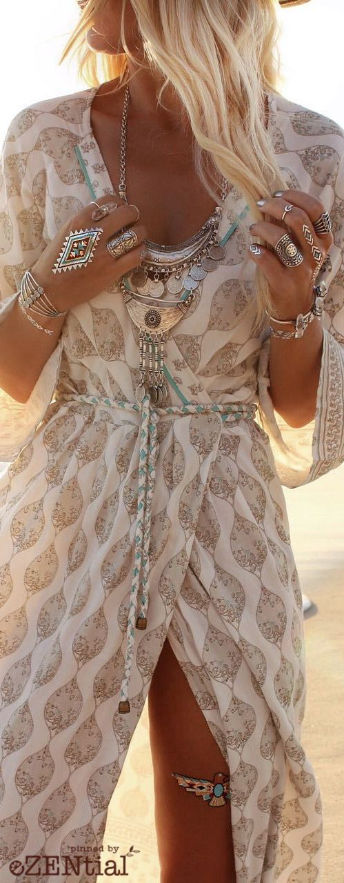 Bohemian jewelry. Boho hippie style necklace, bracelet, ring. For more follow www.pinterest.com/ninayay and stay positively #pinspired #pinspire @ninayay