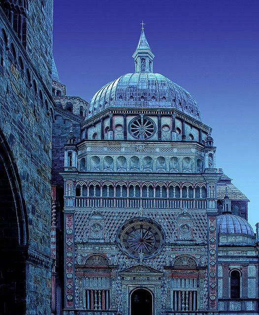"""Bergamo makes a delightful stop on a road trip in Northern Italy. Another pinner said: """"Piazza del Duomo in late evening, Bergamo, Italy"""""""