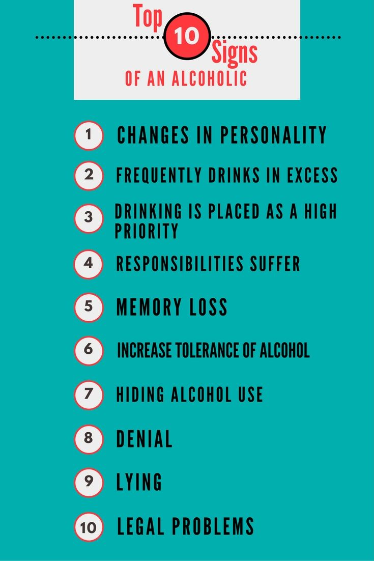 Top 10 Signs of an Alcoholic + Infographic