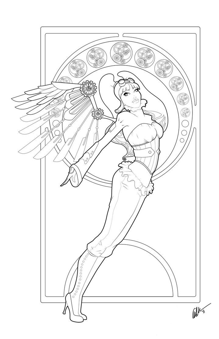 fly angel coloring pages - photo#5