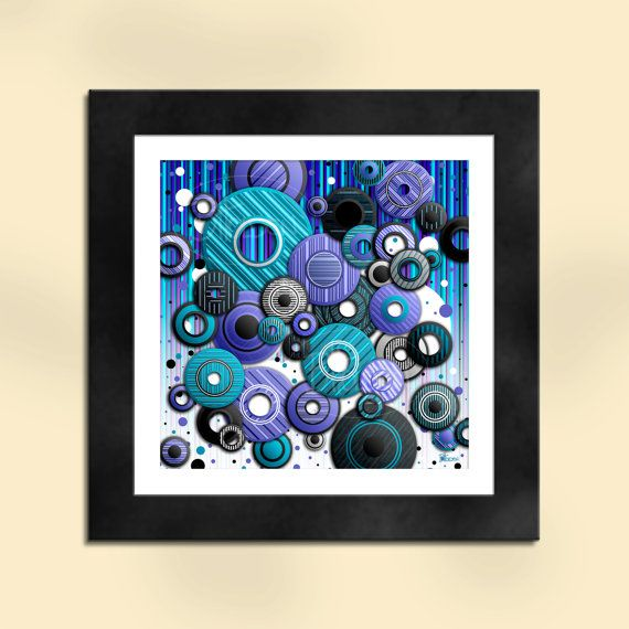 Circles 4 Abstract Art Print by SapphireMoonArt on Etsy