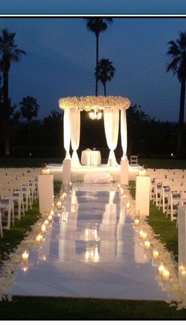 Outdoor night wedding. Gorgeous setting …