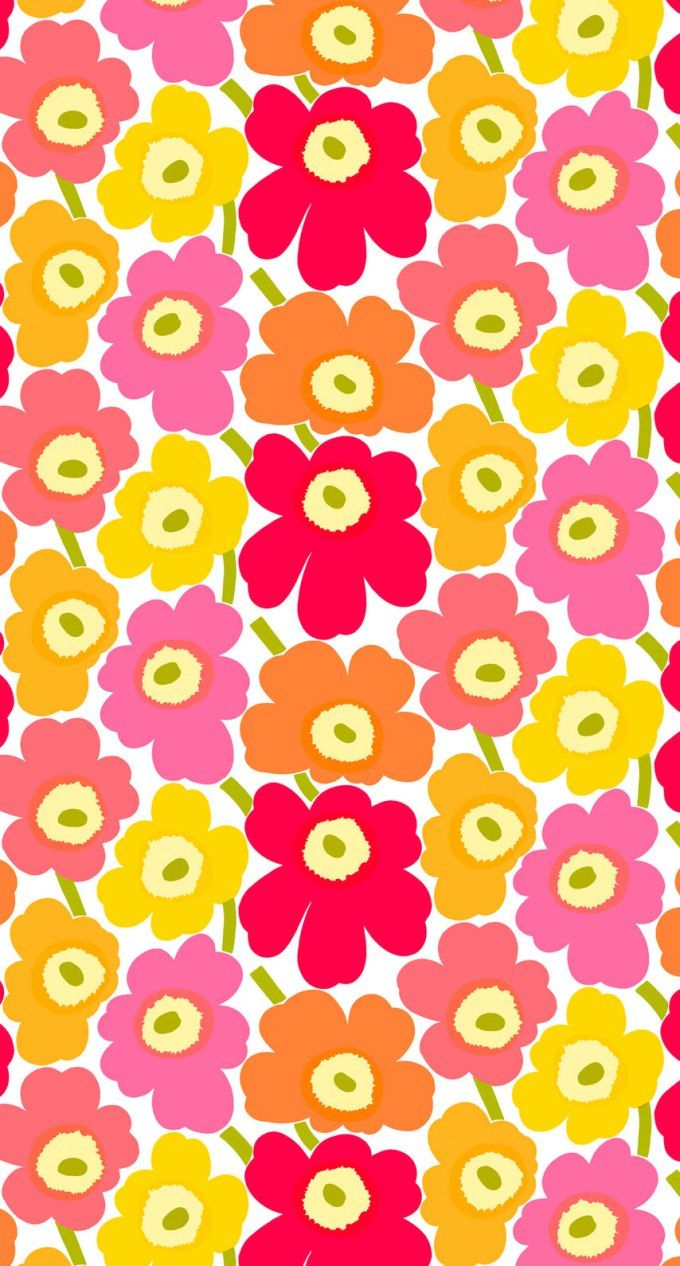 マリメッコ/ウニッコ03 iPhone壁紙 Wallpaper Backgrounds iPhone6/6S and Plus Marimekko Unikko iPhone Wallpaper