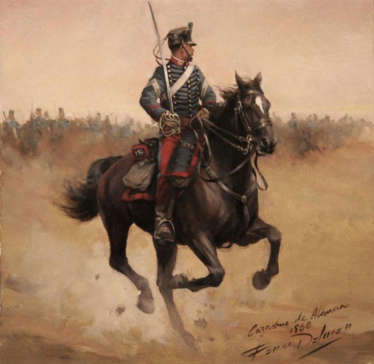 1860. Cazadores de Albuera, 18º de Caballería