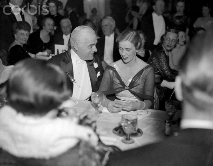 Mrs ~Anna Roosevelt Sitting and Talking With Friend at Presidential Ball Original caption: Mrs. John Boettiger, the former Anna Roosevelt Dall, daughter of the President, is shown chatting with Raymond Baker, former Director of the Mint, at the Washington President Birthday ball held on January 30th. http://en.wikipedia.org/wiki/Anna_Roosevelt_Halsted  Date January 31, 1935  ♡❀♡✿♡❁♡✾♡✽♡❃♡❀♡