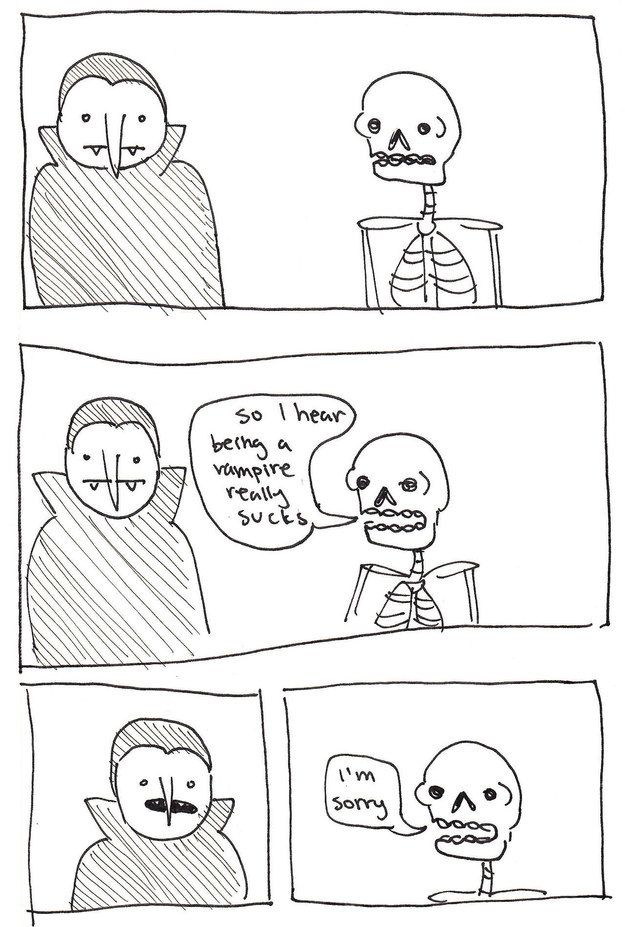 21 punny skeleton comics that will tickle your funny bone - Halloween Pubs