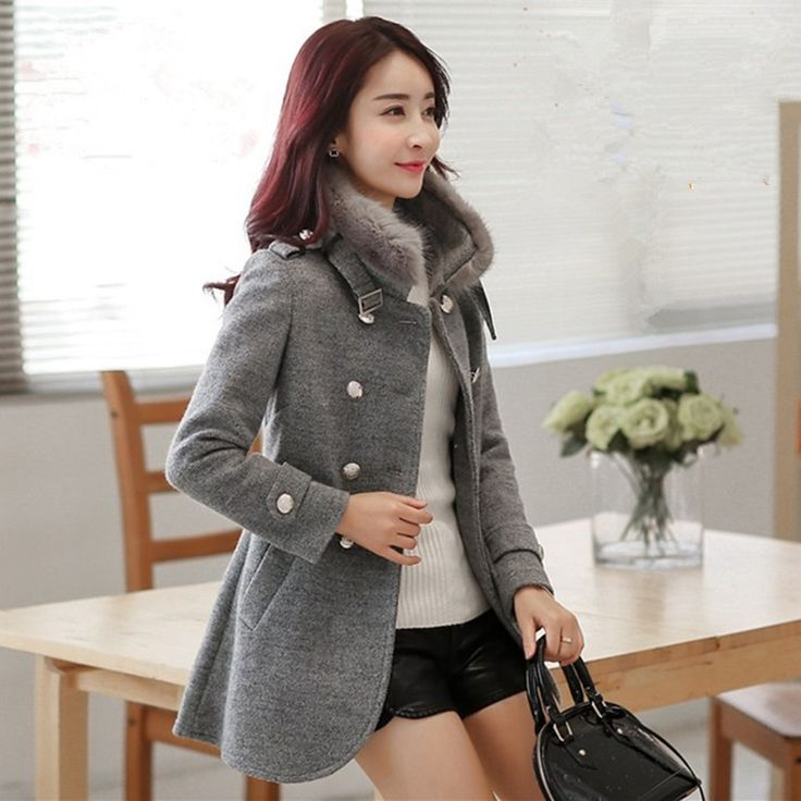 53.82$  Watch now - wool coat  winter women woolen outerwear slim long-sleeve fashion thickening woolen overcoat 5191 plus size s-6XL   #buymethat