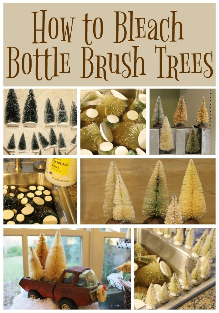 How to bleach green miniature trees into neutral colored trees that