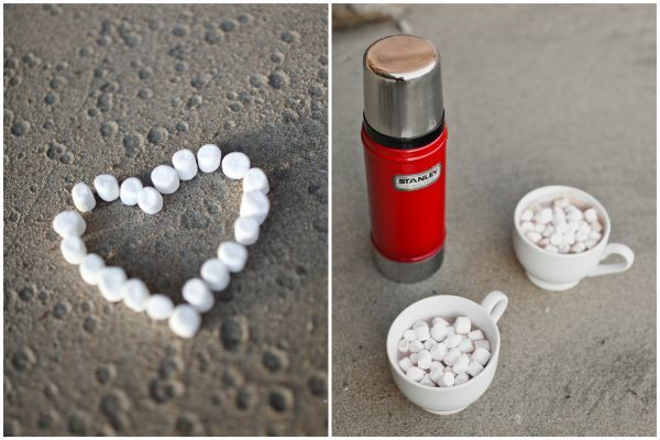 Hot cocoa + marshmallows engagement session featured on Inspired by This // Lovisa Photo 2012    www.lovisaphoto.com