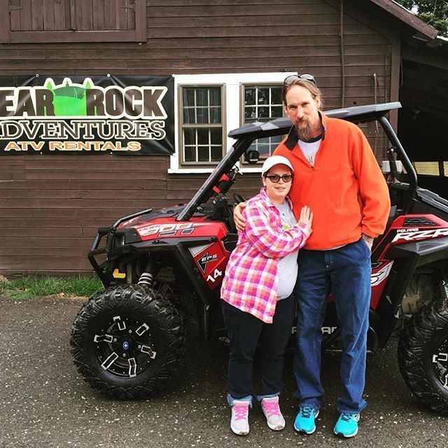 Newlyweds, Tim and Kristin went out for the day today in one of our 'Ultimate' #Polaris #rzr900s! #bearrockadventures #adventure #honeymoon #dirtdonthurt