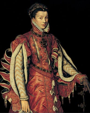 Elisabeth de Valois,c.1560s by Anthonis Mor - now that's what you call slashed sleeves