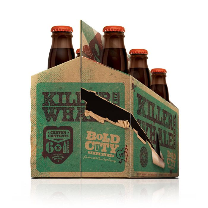 "New ""Killer Whale"" 6-Pack from Bold City Brewery - Designed by Shepherd Agency"