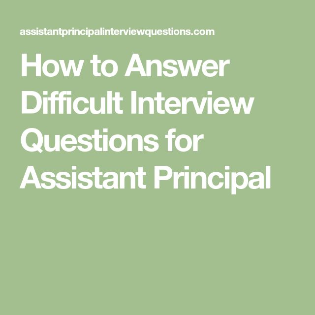 Best 25+ Assistant principal ideas on Pinterest Principal - assistant principal interview questions