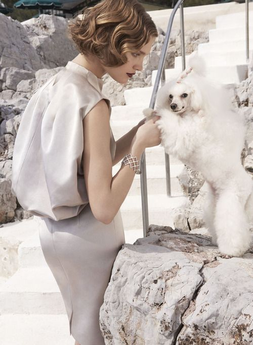 Natalia Vodianova: Fade To Back - Vogue by Mario TestinoVogue, Dogs Dresses, Mario Testino, Fashion, Natalia Vodianova, Beautiful, Dogs Sweaters, Paris Hotels, Poodles