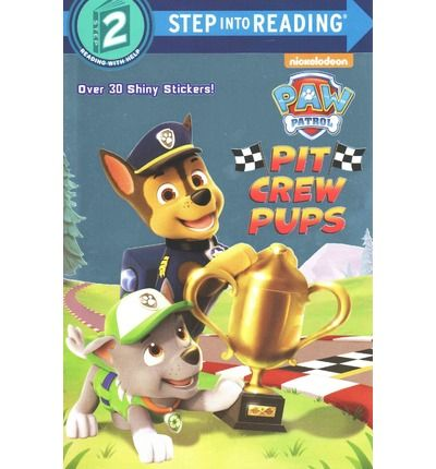 The puppies from Nickelodeon's PAW Patrol are all revved up for the Adventure Bay car race. Boys and girls ages 3 to 7 will love this Step 2 Step into Reading leveled reader that features foil on the cover and two sheets of shiny stickers.  Step 2 Readers use basic vocabulary and short sentences to tell simple stories. For children who recognize familiar words and can sound out new words with help.