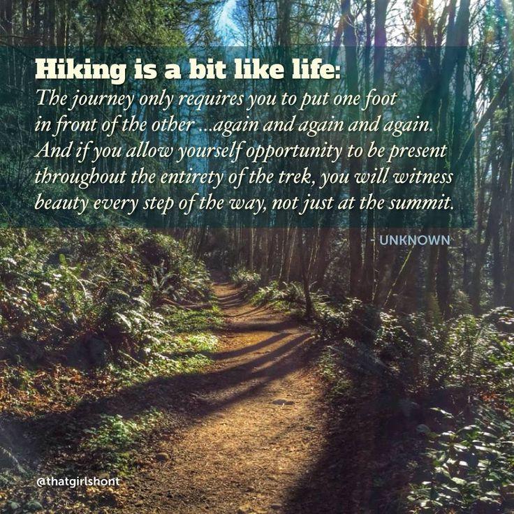 Hiking is a bit like life.....