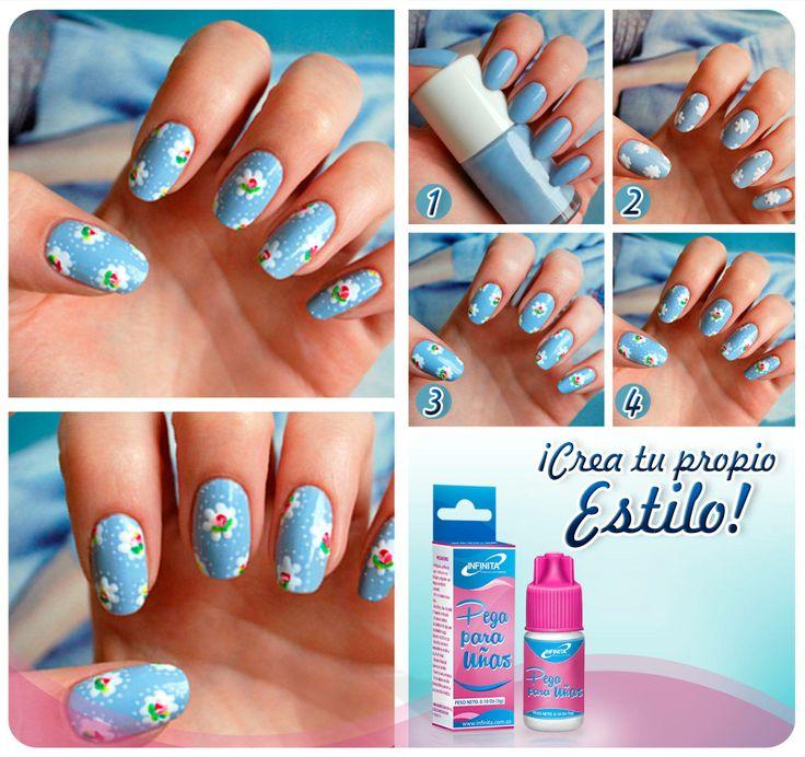¡Luce unas uñas fantásticas al mejor estilo Cath Kidston en solo 4 sencillos pasos!  ¡Hazlo es muy fácil!   ¿Te gusta? ¡Si es así compártelo con tus amigas!  #uñas #manicure #uñasdecoradas