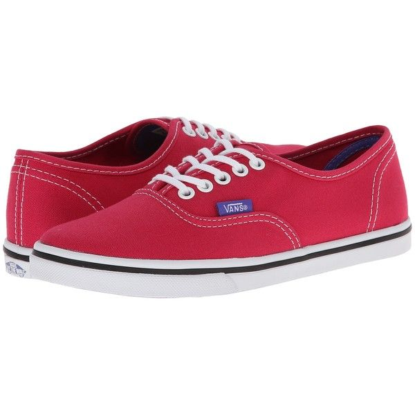 Vans Authentic Lo Pro Black/True White) Skate Shoes, Pink (3.275 ISK) ❤ liked on Polyvore featuring shoes, sneakers, vans, pink, pink sneakers, black white sneakers, black shoes, evening shoes and vans sneakers