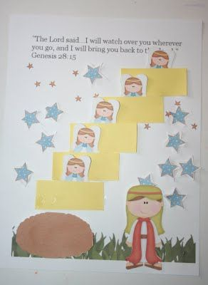 Jacob's Ladder FREE Printable  Not realistic pic but still very nice; I'd probably use star stickers just so I didn't have to cut out so many.