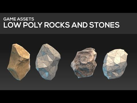 GAME ASSET TUTORIAL - Low poly stones and rocks - YouTube