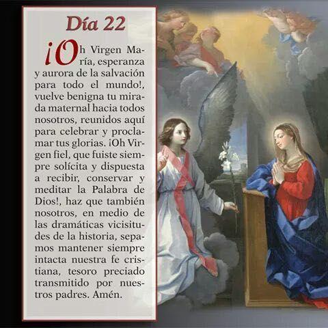 Mayo 22 Mes de nuestra Santisima Virgen Maria