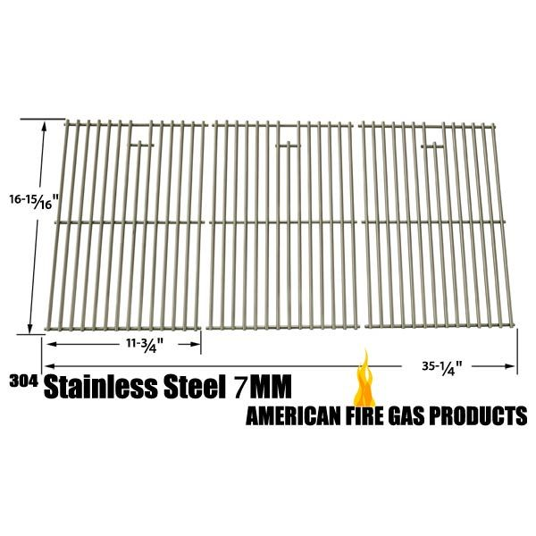 3 PACK STAINLESS STEEL COOKING GRID REPLACEMENT FOR OUTDOOR GOURMET BQ51004, MASTER CHEF 85-3008-4, NEXGRILL 720-0419 AND NORTH AMERICAN OUTDOORS 720-0419 GAS GRILL MODELS Fits Compatible Outdoor Gourmet Models : BQ51004 Read More @http://www.grillpartszone.com/shopexd.asp?id=34736&sid=36672