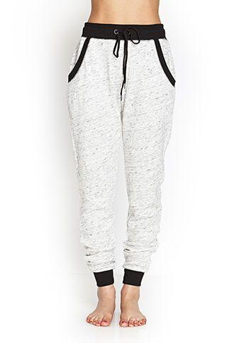 Marled Terrycloth PJ Sweatpants | FOREVER21 - 2000059884