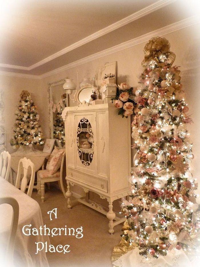 Shabby chic christmas decorating ideas christmas shabby - Navidad shabby chic ...