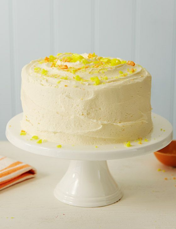Recipe; Lemon Cake with Sherbert Buttercream Frosting; Made from scratch