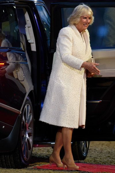 Camilla Duchess Of Cornwall Arrives At Queen Elizabeth IIs 90th Birthday Celebrations Home Park