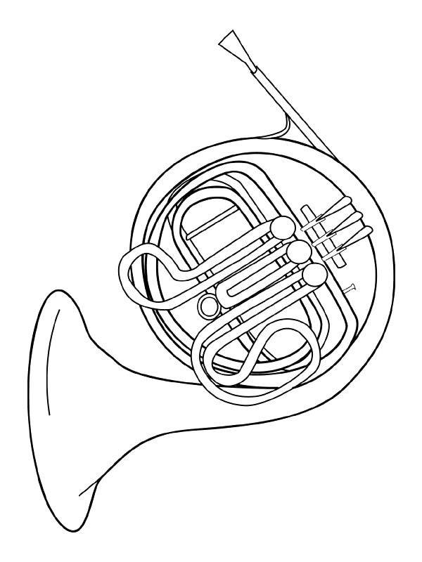 coloring page musical instruments musical instruments - Triangle Instrument Coloring Page