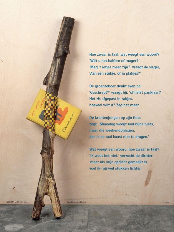 Aan de muur - Poëzieposters - poëzieposter Taal Bies van Ede - Plint