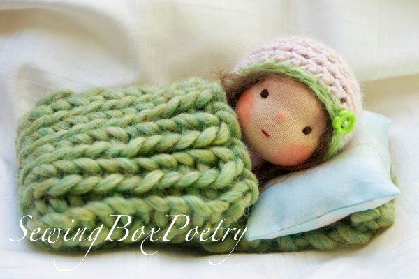 """Waldorf inspired baby doll -  awww, fer cute! """"..a sweet little treasure for tiny little hands...    This is really a tiny baby doll. She is only about 6'' tall but is full of heart and ready for lots of cuddles.""""  (note to self: Great inspiration idea!}"""