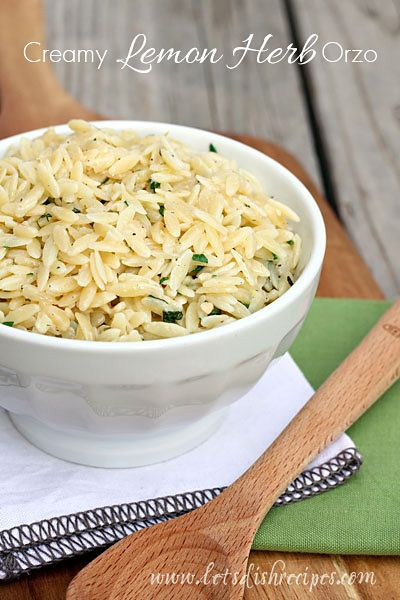 I often spend so much time on my main dish that I completely neglect to make a side dish. Which is why I love easy sides like this Creamy Lemon Herb Orzo. It only takes about 10 minutes from start ...