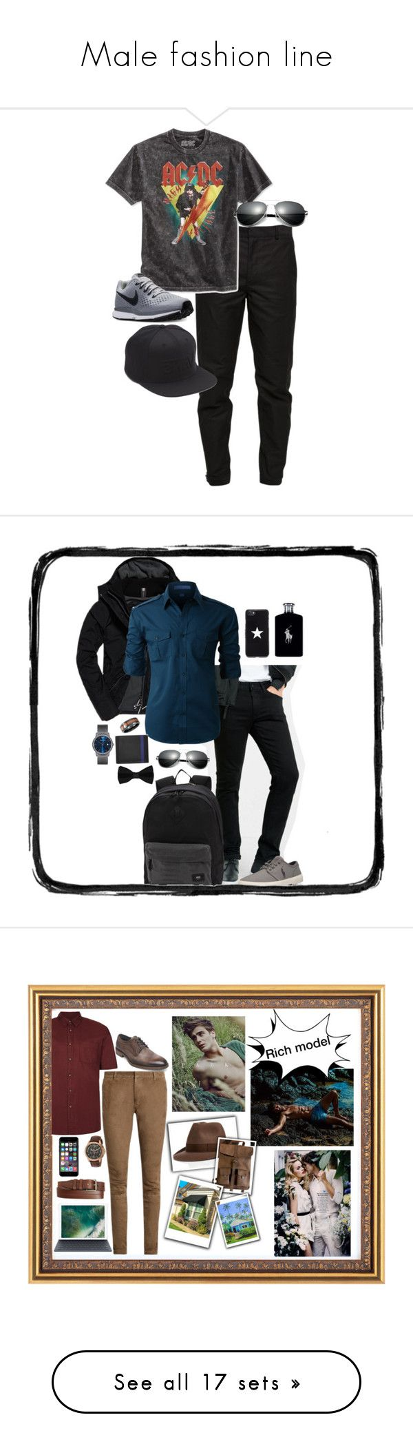 """""""Male fashion line"""" by jennisonklichfield ❤ liked on Polyvore featuring Maison Margiela, Bioworld, NIKE, Vans, men's fashion, menswear, Superdry, Express, LE3NO and Emporio Armani"""
