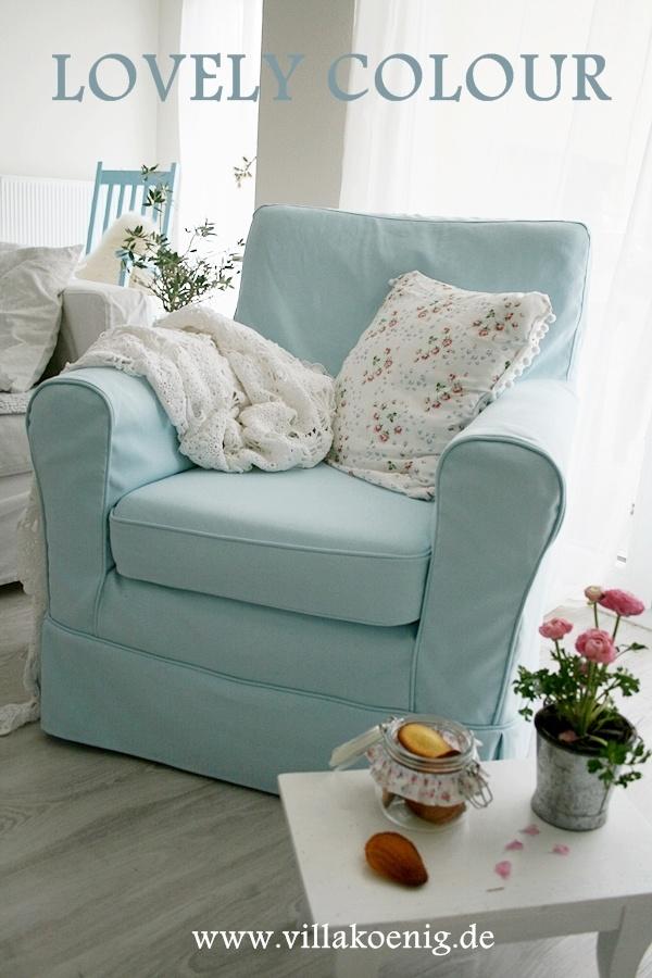 lovely little #slipcovered #blue #chair
