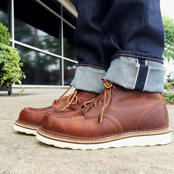 Size 8.5 | Red Wing Shoes | Moc Toe Boot | 1907