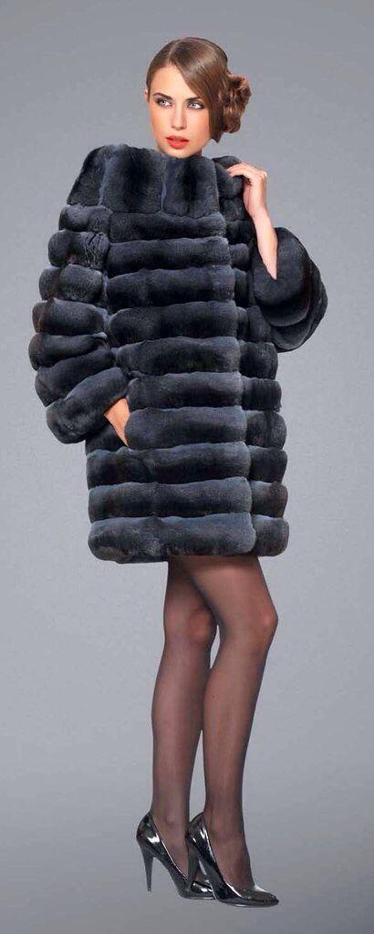 Dyed Chinchilla Fur Jacket