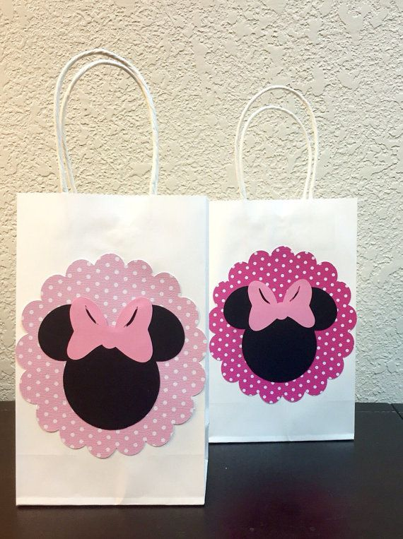 6 ct. Minnie Mouse inspired treat bags for by PoshPetalCreations