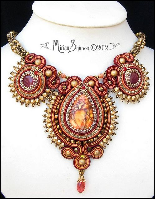 Autumn Soutache necklace | Flickr - Photo Sharing!