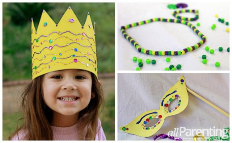 Looking for a kid-friendly way to celebrate Mardi Gras? Bring the French Quarter home with these 4 Mardi Gras crafts for kids!  #mardigras #craftsforkids